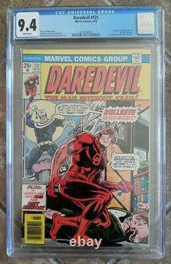 Cgc 9.4 Daredevil #131 White Pages 1st Appearance Bullseye 1976