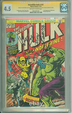 Cgc Ss 4.5 Incredible Hulk #181- Signed By Romita Sr, Trimpe, Wein, & Stan Lee