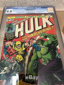 Comics 1974 THE INCREDIBLE HULK 181 CGC 9.4 WOLVERINE 1st Appearance (awesome)