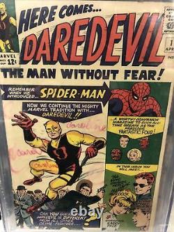 Daredevil #1 (1964, Marvel) 1st Daredevil/Matt Murdock, CGC 2.0 Silver Age Key