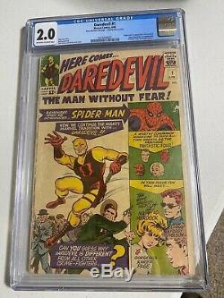 Daredevil #1 CGC 2.0 (Apr 1964, Marvel)
