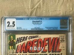 Daredevil #1 CGC 2.5 First appearance Daredevil, Matt Murdock, Karen and Foggy
