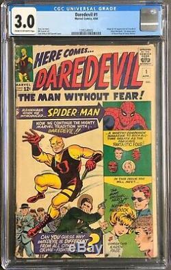 Daredevil #1 CGC 3.0 Silver Age Comic (Apr 1964, Marvel) Daredevil 1st App