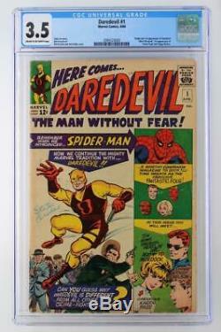 Daredevil #1 CGC 3.5 VG- Marvel 1964 1st App/ORIGIN Daredevil 1st Foggy