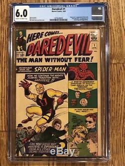 Daredevil #1 CGC 6.0 Marvel 1964 Origin Daredevil (Matt Murdock)