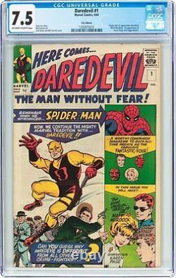 Daredevil #1 CGC 7.5 1964 1st appearance! Matt Murdock! Netflix UK! F8 110 cm bo