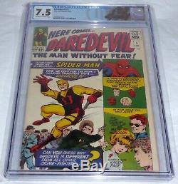Daredevil #1 CGC 7.5 Origin 1st Appearance Matt Murdock Karen Page Foggy Nelson