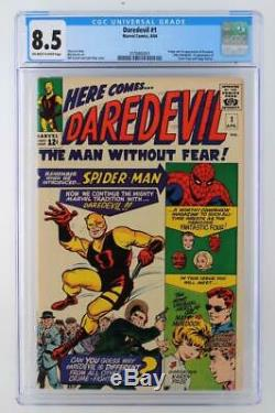 Daredevil #1 CGC 8.5 VF+ Marvel 1964 1st App & ORIGIN Daredevil 1st Foggy
