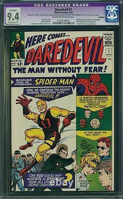 Daredevil #1 CGC 9.4 R Marvel 1964 Stan Lee! 173 Spider-Man! Avengers! D9 cm