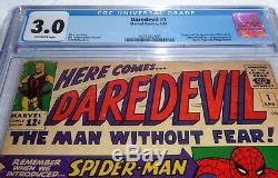 Daredevil #1 CGC Universal Grade Comic 3.0 Origin 1st Matt Murdock Foggy Nelson