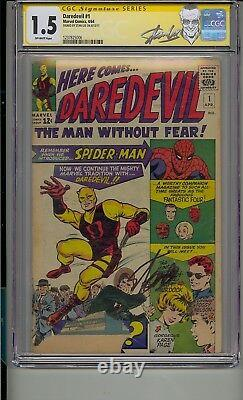 Daredevil#1 Cgc 1.5 Ss Signed Stan Lee