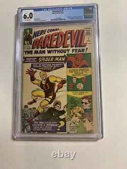 Daredevil 1 Cgc 6.0 Ow Pages Marvel Silver Age
