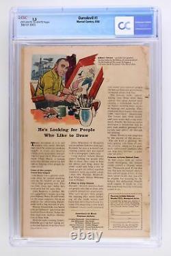 Daredevil #1 -Marvel 1964 CGC 1.5- Origin & 1st App of Daredevil (Matt Murdock)