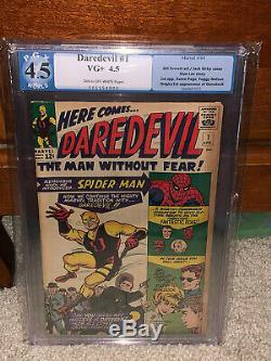 Daredevil #1 PGX 4.5 Marvel 1964 Stan Lee! Jack Kirby! Free CGC mylar! K10 cm