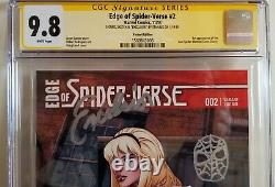 Edge of Spider-Verse #2 Land Variant STAN LEE SS Cgc 9.8 Mint. PC GRAIL