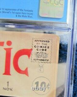 Fantastic Four #1 (1961) Origin & 1st Appearance Mega Key Cgc 5.0 Unpressed Rare