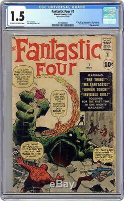 Fantastic Four #1 CGC 1.5 1961 2017000001 1st app. Fantastic Four
