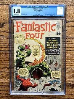 Fantastic Four #1 CGC 1.8 Marvel 1961 BEST LOOKING ON EBAY