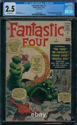Fantastic Four 1 CGC 2.5 1st FF