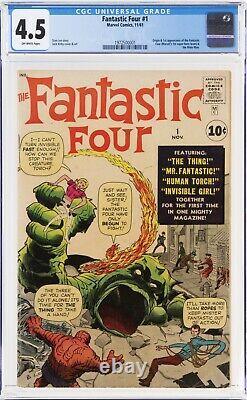 Fantastic Four 1 CGC 4.5 (1st Marvel Team-up) 1982500001 SUPER CLEAN for 4.5