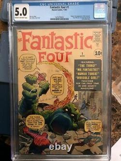 Fantastic Four #1 CGC 5.0 / OFF-WHITE WHITE pages / THE Marvel Silver Age Key