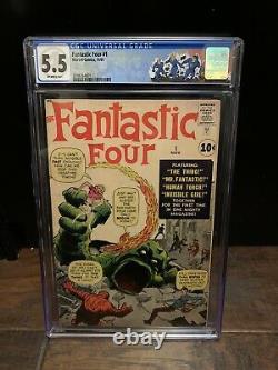 Fantastic Four #1 CGC 5.5 Marvel 1961 (1st app.) 3798264001