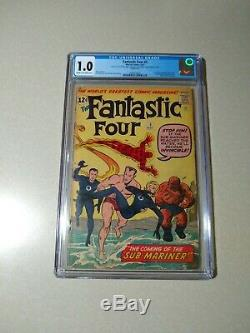 Fantastic Four #4 CGC 1.0 1st Silver Age appearance Sub-Mariner Namor 1962