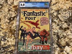 Fantastic Four #4 Cgc 6.0 Rare White Pages 1st Sub-mariner Namor Mckenzie Movie