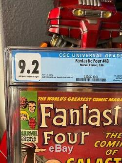 Fantastic Four #48 CGC 9.2 (OW-W) Cameo Silver Surfer & Galactus Marvel