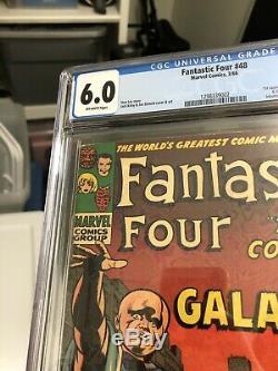 Fantastic Four 48 Cgc 6.0 1st App Of Silver Surfer & Galactus Hot Comic
