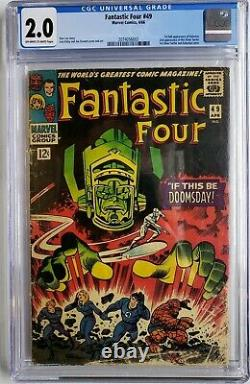 Fantastic Four 49 Cgc 2.0 1st App Galactus 2nd Silver Surfer Avengers