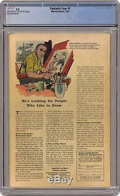 Fantastic Four #5 CGC 3.5 1962 2070476016 1st app. Doctor Doom