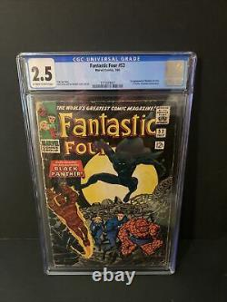 Fantastic Four #52 Cgc 2.5 1st Appearance Of Black Panther Oww Pages Tchalla
