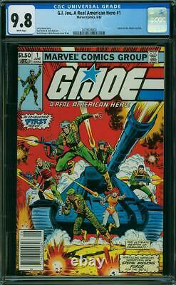 G. I. Joe, A Real American Hero #1 CGC 9.8 Marvel 1982 White Pages! K4 143 cm