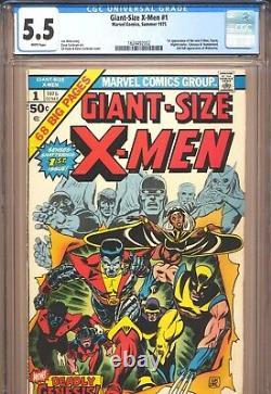 GIANT-SIZE X-MEN #1 CGC 5.5 1st New X-Men! Marvel Comics 1975 White Pages