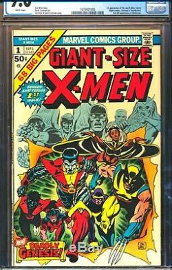 GIANT SIZE X-MEN 1 CGC 9.0 1st app Nightcrawler, Storm, Colossus WHITE PAGES