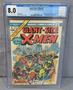 GIANT-SIZE X-MEN #1 (Storm, Colossus, Nightcrawler) CGC 8.0 Marvel Comics 1975