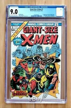 Giant Size X-men 1 Cgc 9.0 1st App Nightcrawler Storm Colossus Thunderbird Magik