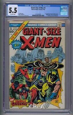Giant-size X-men #1 Cgc 5.5 1st App New X-men 2nd Full App Wolverine