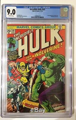 HULK 181 CGC 9.0 1st Wolverine X-Men grail