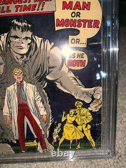 Hulk #1 CGC 3.0 Marvel 1962 WHITE pages! Key Silver Age! RARE! D4 102 cm cl bo