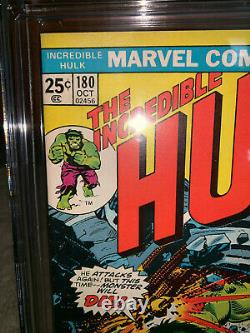 Hulk #180 9.8 1974 1st Wolverine in Cameo! X-Men Before #180 Rare K10 112 cm