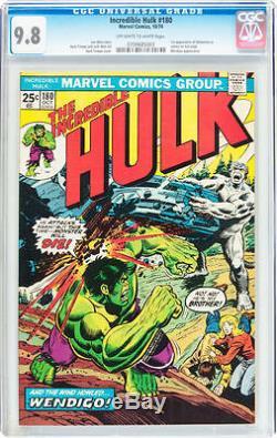 Hulk #180 CGC 9.8 1974 1st Wolverine in Cameo! X-Men! Rare! E5 703 1 cm