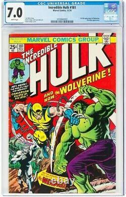 Hulk #181 CGC 7.0. White Pages