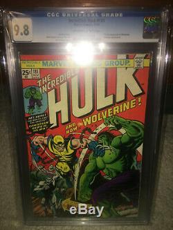 Hulk #181 CGC 9.8 Marvel 1974 1st Wolverine! Key Bronze! X-Men NM/Mint K8 104 cm