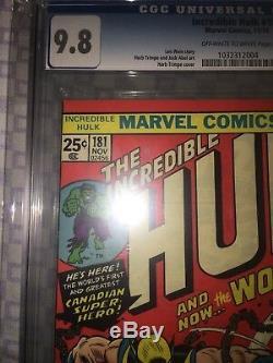 Hulk #181 CGC 9.8 Marvel 1974 1st Wolverine! X-Men! Like CGC! H3 H10 cm