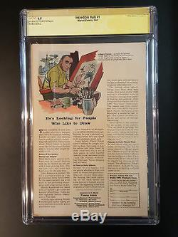 INCREDIBLE HULK 1 to 6 CGC 6.0 All SIGNED SS STAN LEE 1ST AVENGERS IRON MAN