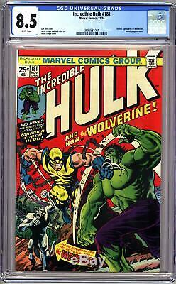 INCREDIBLE HULK #181 CGC 8.5 VF+ 1st FULL WOLVERINE APPEARANCE, BEAUTIFUL COPY