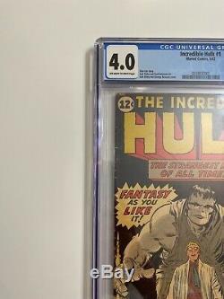 Incredible Hulk #1 CGC 4.0 1962 (1st Hulk Appearance)