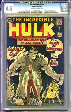 Incredible Hulk #1 CGC 4.5 VG+ Universal CGC #0271866001